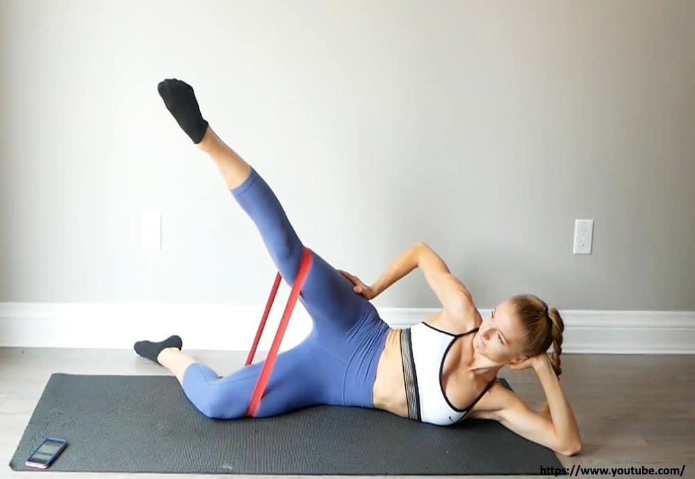 Supine Inner Thigh Lift exercise to lose thigh fat